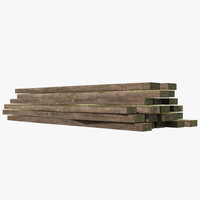 3d model wood wall lumber