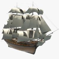3d model of hms vanguard