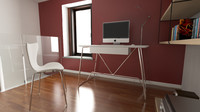 calligaris duke desk 4 3d c4d