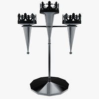 candle holder 3d ma