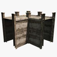 modular wall 3d model