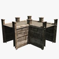 modular wall 3d x