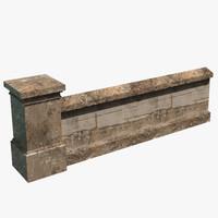 3d modular wall model