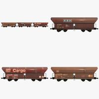 train cars 3d model