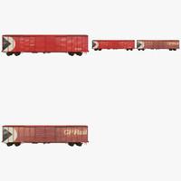 train cars fbx