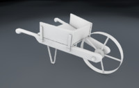 3d model wheelbarrow wheel
