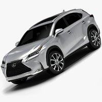 2015 lexus nx interior 3d model