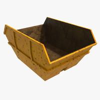 skip dumpster 3d model