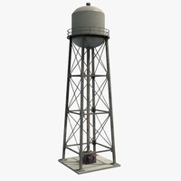 water tower 3d x