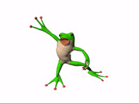 cartoon frog rigged character 3d max
