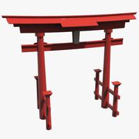 3d model torii gate