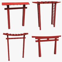 3d torii gates model