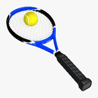 Tennis Racket and Ball 01