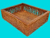 realistic old wicker basket 3d model