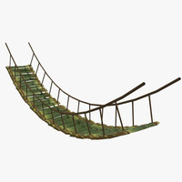 3d bamboo bridge model