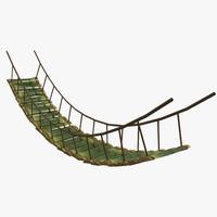 3d bamboo bridge model