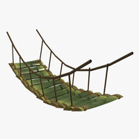 3d bridge bamboo model