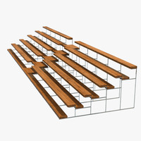 3d seating bleachers stands model