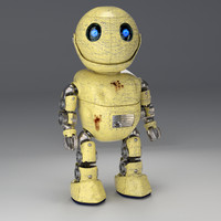 friendly robot rig little 3d model