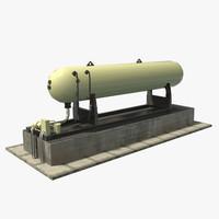gas tank 3d x