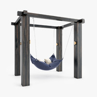 3d hammock arbor pillows model