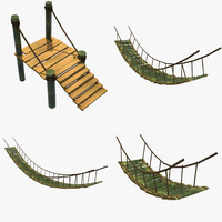 bamboo bridges 3d ma