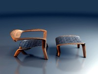 c4d icona lounge chair