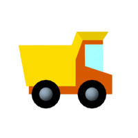 toy truck 3d ma