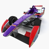3d virgin formula e race car model