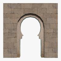 horseshoe archway 3d fbx