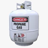 propane gas tank 3d model