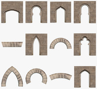 3d model of arches pack