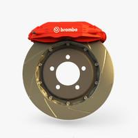 3d model brake brembo gt