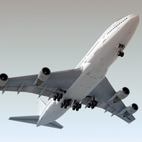 Boeing 747-200 Generic White