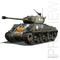 3d model m4a3e8 sherman - skeeter