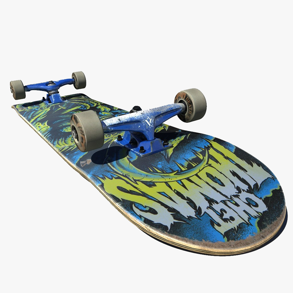Skate skateboard board 3d model - Skateboard mobel ...