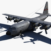3d model c-130 drop