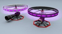 3d model of high-end camera drone -