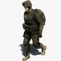 3d model of marine para pilot