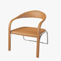 3d model vladimir kagan fettuccini seat chair
