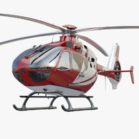 eurocopter ec 135 red 3d max