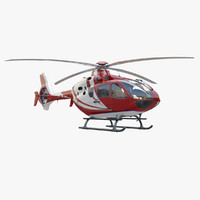 3d model of eurocopter ec 135 red
