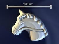 3d horse mould hand model