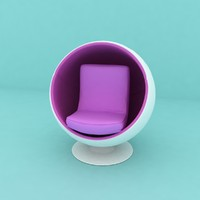 3D Ball Chair Game Ready Medium Poly