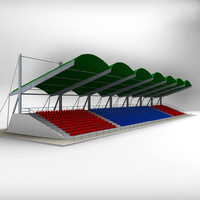 stadium seating tribune 3d 3ds
