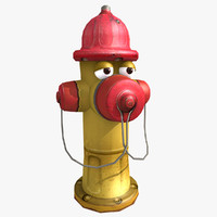 maya cartoon hydrant