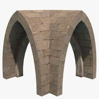 3d dungeon vault model