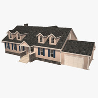 3d classic family house model