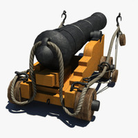 3d ma naval ships cannon