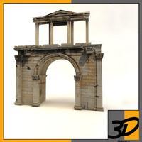 3d arch hadrian model